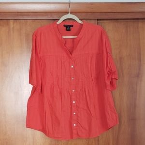 Preswick & Moore Orange short sleeve blouse